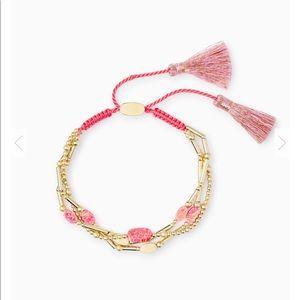 Kendra Scott Hot Pink Kyocera Opal Bracelet